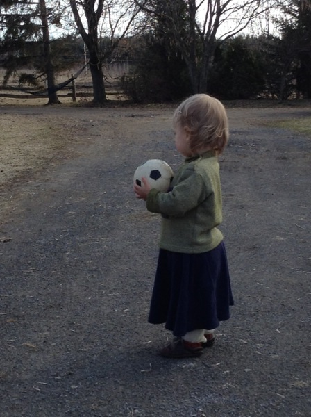 Viv with a soccer ball