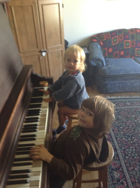 Viv and Oscar at the piano