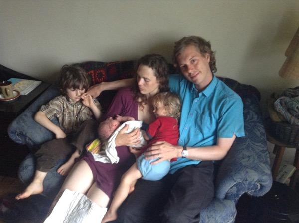 L to R: Oscar, Baby Ada, Elizabeth, Vivien, me