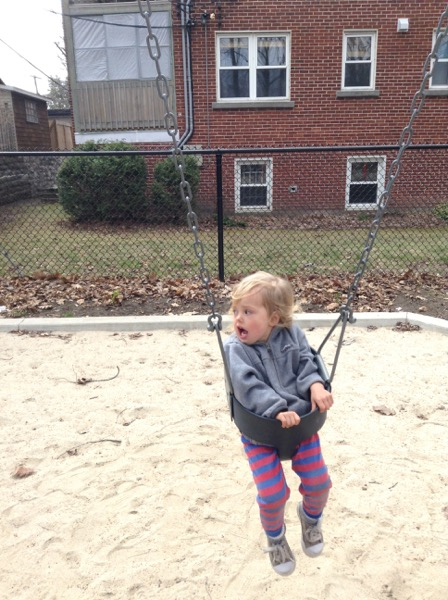 Viv in a swing