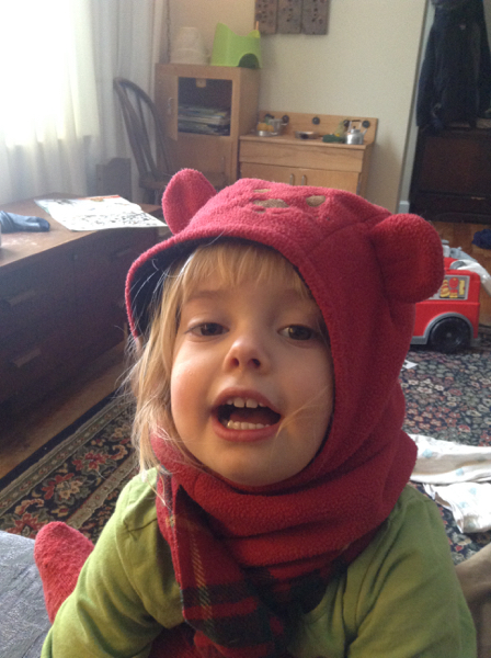 Viv in a bear hat