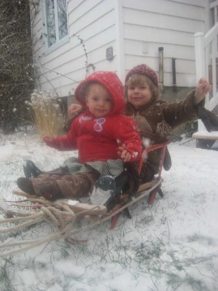Oscar and Vivien in toboggan (1)
